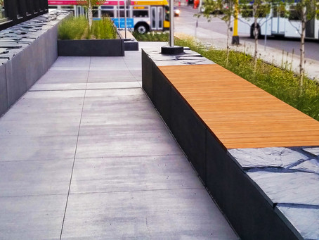 Lamboo® Elements™ Utilized for Exterior Bench Seating