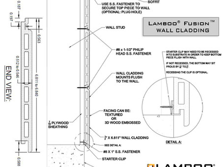 Lamboo® Fusion™ Composite Wall Cladding