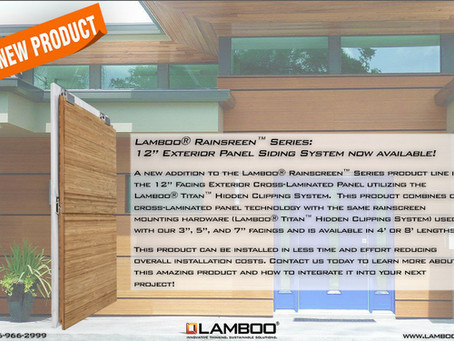 "Lamboo® Rainscreen™ - NEW! 12"" Cladding System"
