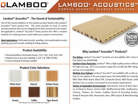 Lamboo® Acoustics™ Series Product Line