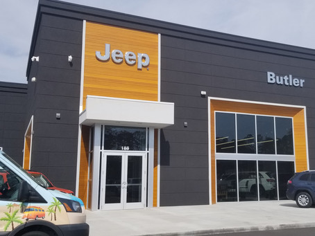 Lamboo® Utilized for Accents on Dealership