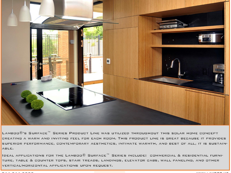 Lamboo® Surface™ Series in Solar Home Concept
