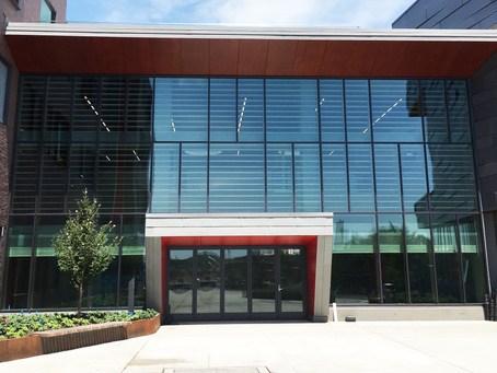 Lamboo® Vue™ Curtain Wall System & Sun Shade Louvers in new Middle/High School