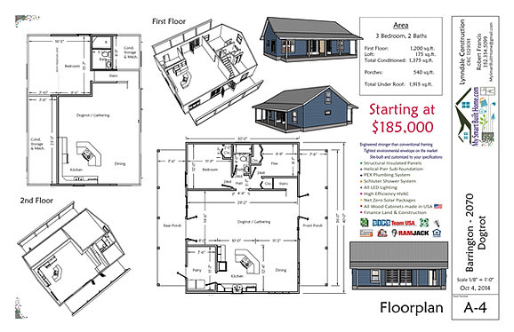 Barrington House Plan Dog Trot