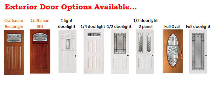 Exterior Door Options