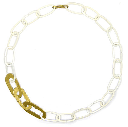 """18"""" Eggshell & Gold Necklace"""