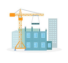 house-building-process-flat-vector-illus