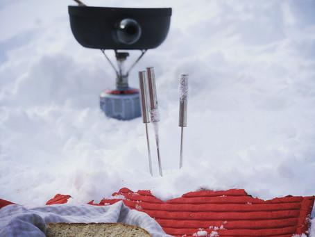 Das fünf-Minuten-Schnee-Menü