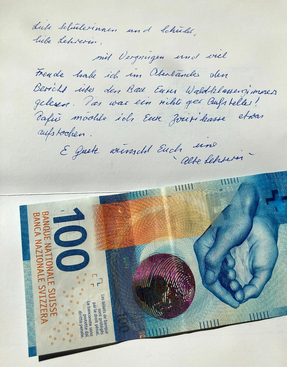 Brief von einer alten Frau
