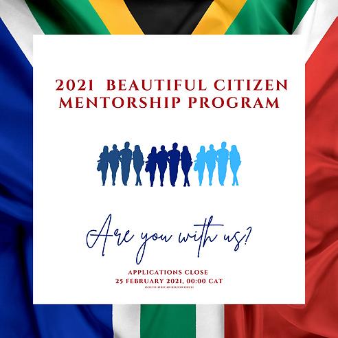 Beautiful Citizen mentorship program pos