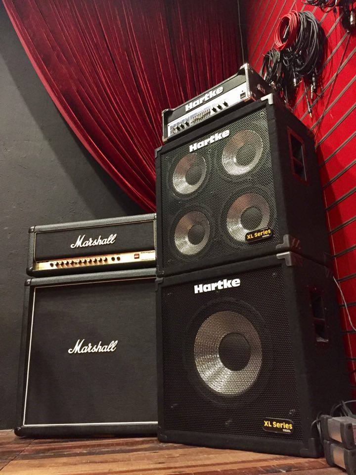 Bass amp and guitar amp