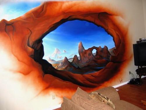 Desert eye - 2006 - hand-painted / airbrush