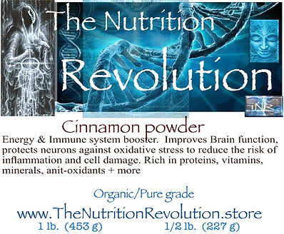 The Nutrition Revolution - Cinnamon labe