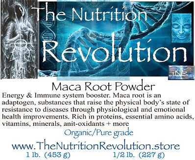 The Nutrition Revolution - Maca root lab