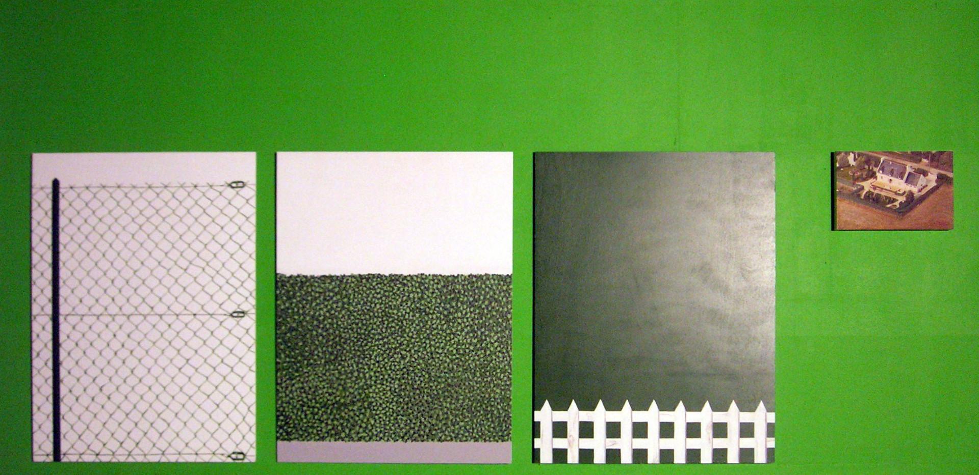 """""""Matrices cadastrales"""" contre plaqué, peinture acrylique"""