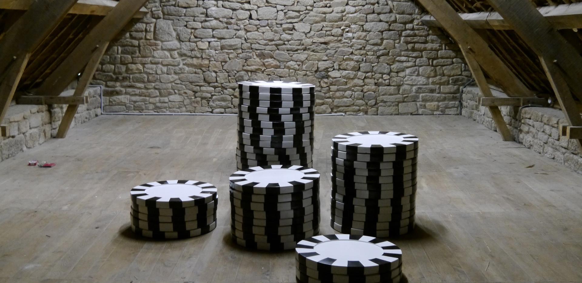 """""""All in""""   plâtre de synthèse, peinture acrylique"""