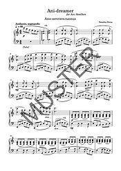 """Klaviernoten von Nataliia Strus """"Ani-Dreamer"""" komponiert für die Klavierschülerin Ani Stölken aus Großhansdorf 2020"""