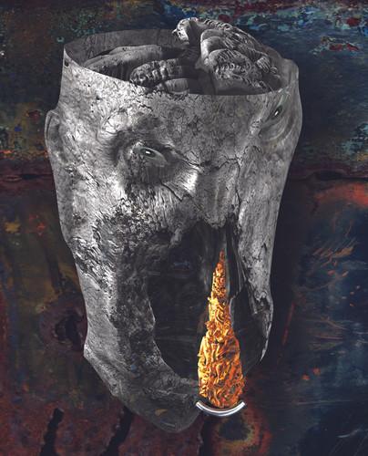 Hollow Dump 凹凝筋皮 74x53cm  2012