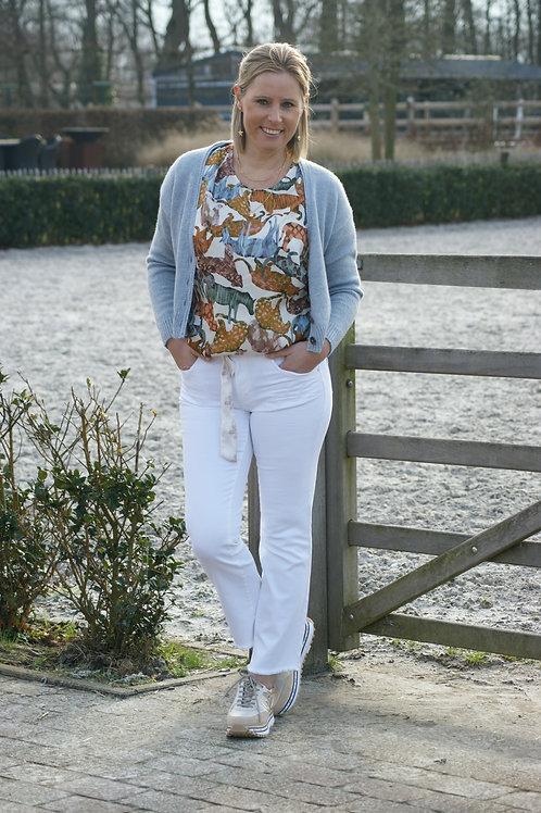 53901 Witte broek met riem Para Mi model KIM