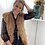 Thumbnail: Camel pelsen faux fur jasje 50775