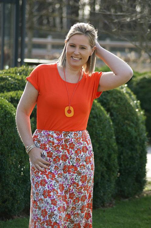 54209 Oranje t-shirt stretch kwaliteit Marie Méro