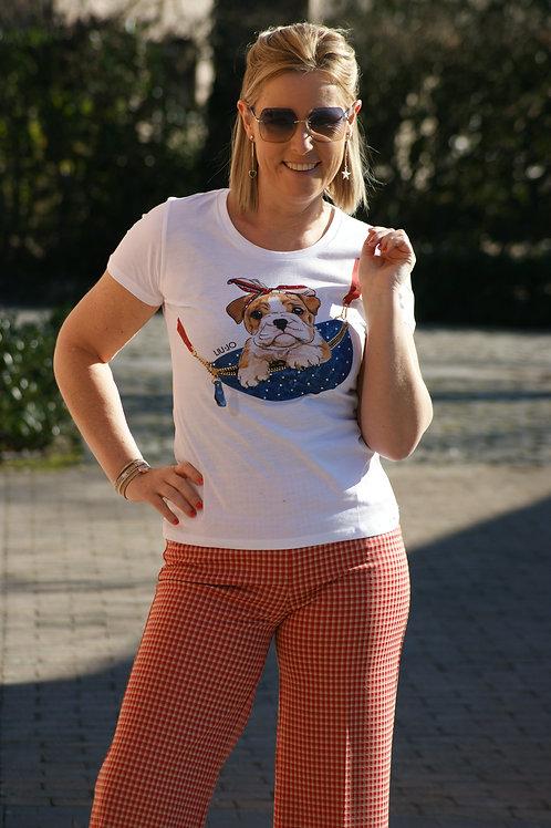 54044 T-shirt met hondje LIU JO
