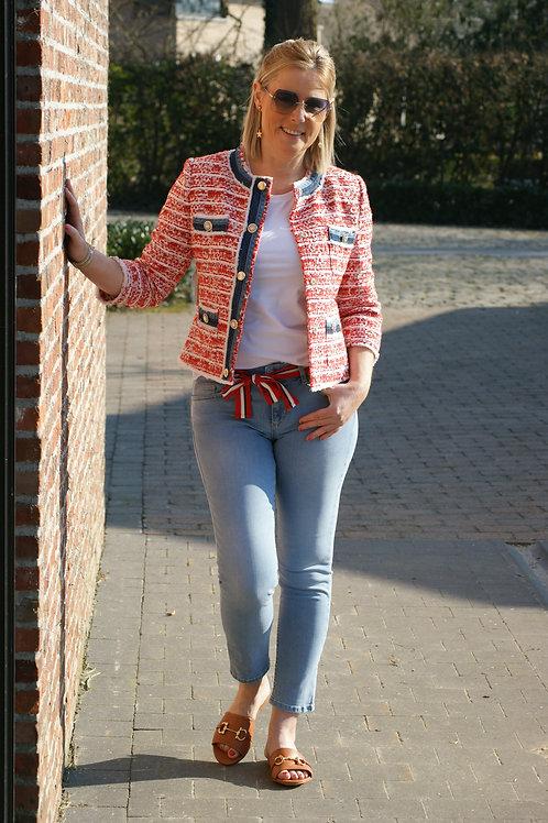 54061 Jeans met rood lintje push up model Liu Jo