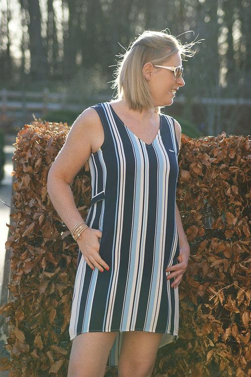 54113 Korte jurk met blauwe strepen LIU JO SPORT