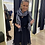 Thumbnail: Sjaal met ruitjes zwart/wit 53688