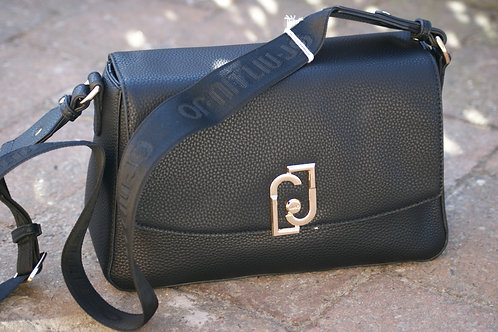 54091 Zwarte handtas met lange riem LIU JO