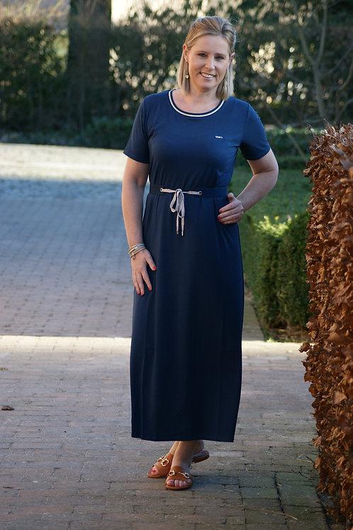 54107 Lange donkerblauwe sweaterdress LIU JO SPORT