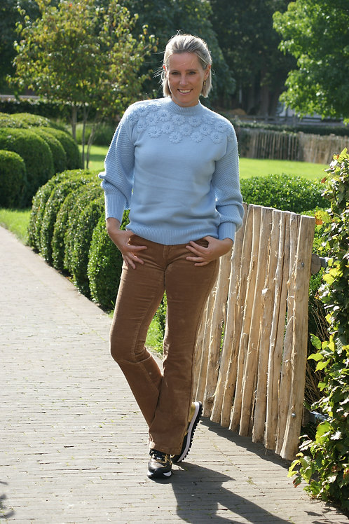 Bootcut camel broek in velours Para Mi 52883