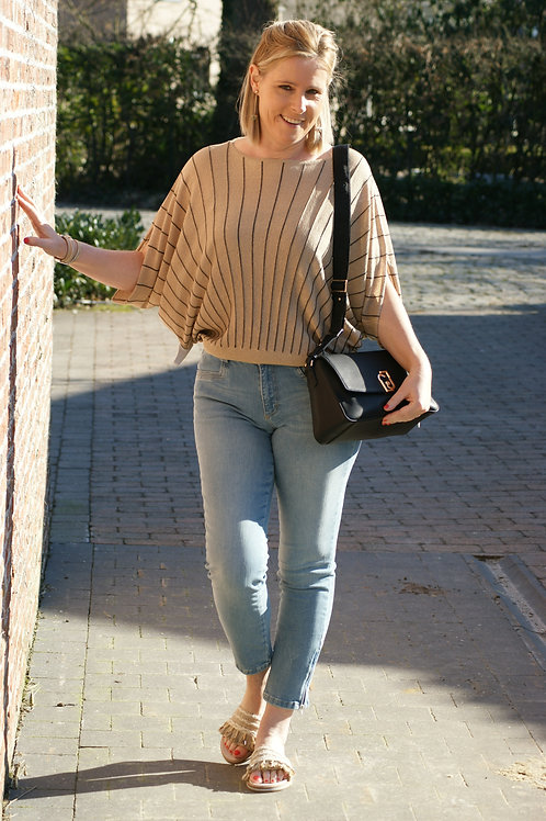 53908 Lichte jeans met rits, enkellengte model AMBER Para Mi