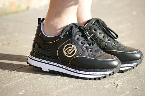 54087 Zwarte sneaker met logo LIU JO