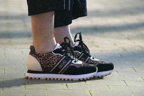 54084 Zwarte sneakers met tijgerprint LIU JO