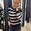 Thumbnail: Zachte trui met beige/zwarte strepen Garcia 52247
