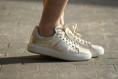 54618 Gouden Tango sneaker met verhoogde zool