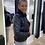 Thumbnail: Lederen biker jacket met faux fur pels My Twin by Twinset 51124