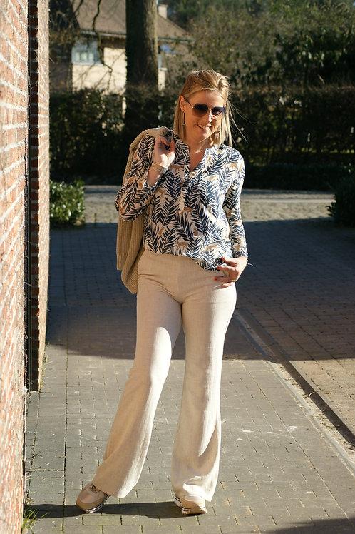 54838 Beige broek in linnen kwaliteit Avalanche