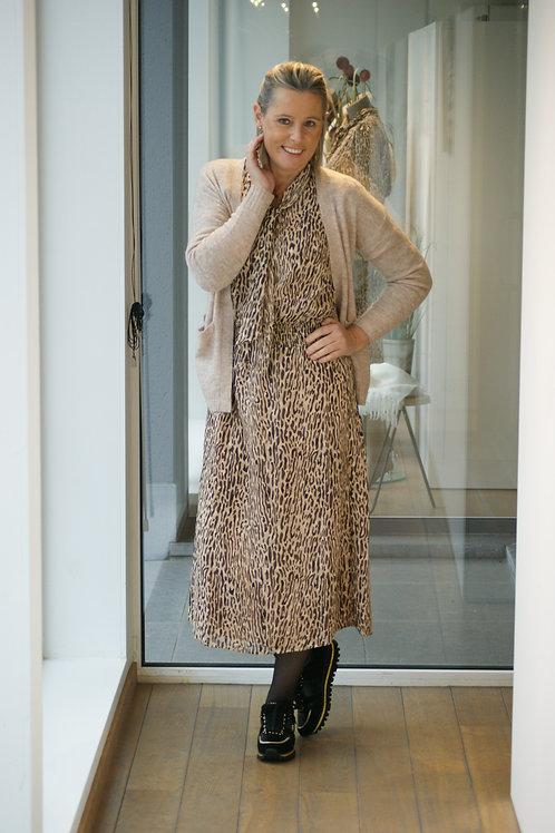 Lange feestelijke jurk met luipaardprint Esqualo 53187