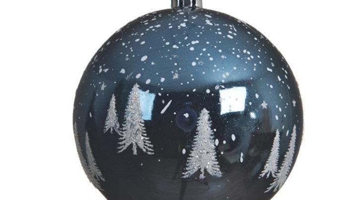 11/ Boule Plastique Bleu Nuit Ø8cm