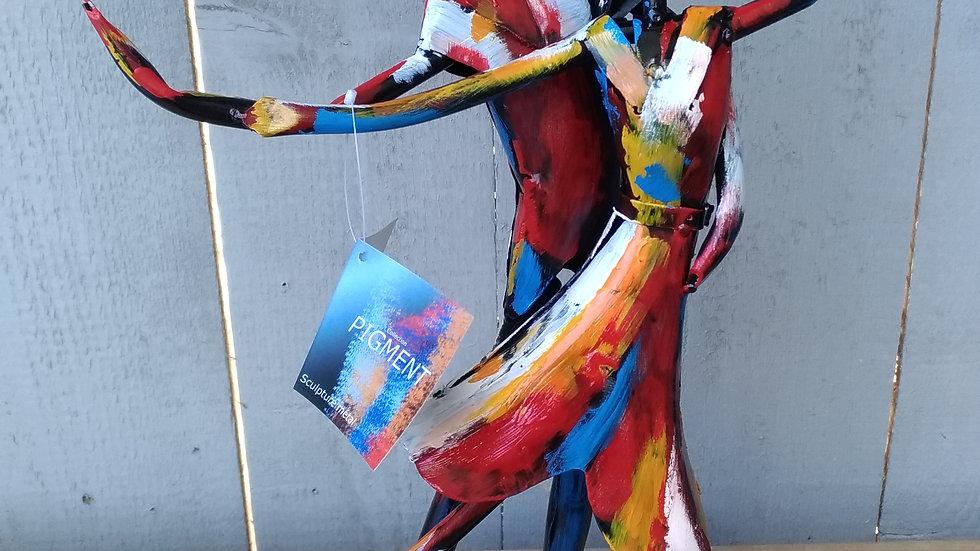 13/ Sculpture métal pigment