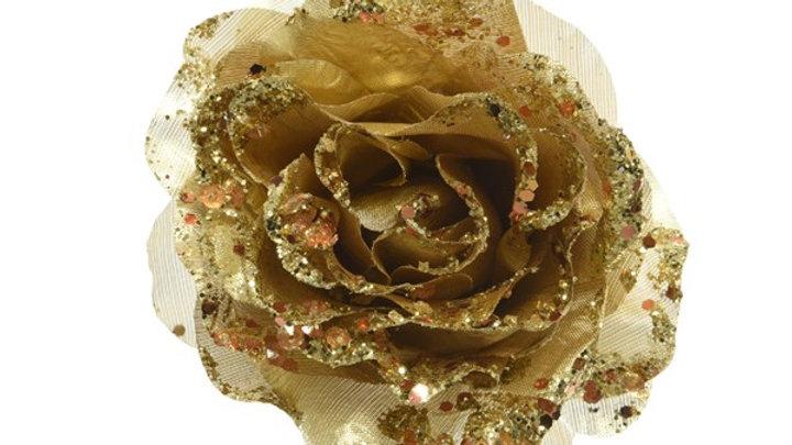 21/ Rose sur clip Ø14x8.5cm