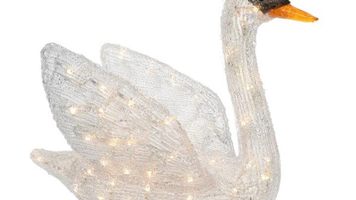 7/ LED Cygne Blanc chaud 49x27x40cm
