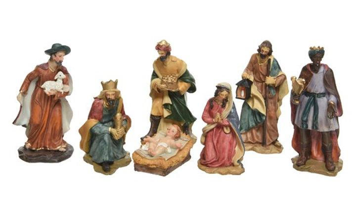 1/ 7 Figurines 15cm (3 Roi berger-Marie-Joseph-Jesus)