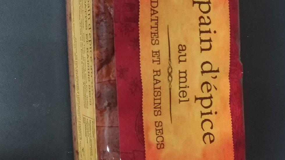 6/ Pain d'Épices au miel Dates et raisins secs Spécial Foie Gras 300g