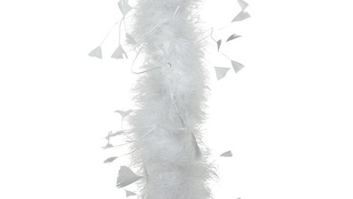 5/ Boa Plumes Poule Blanc 184cm