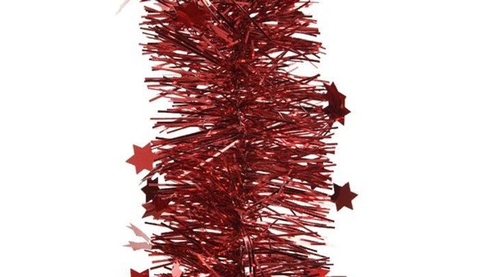 18/ Guirlande Etoile 10x270Cm Rouge Noël