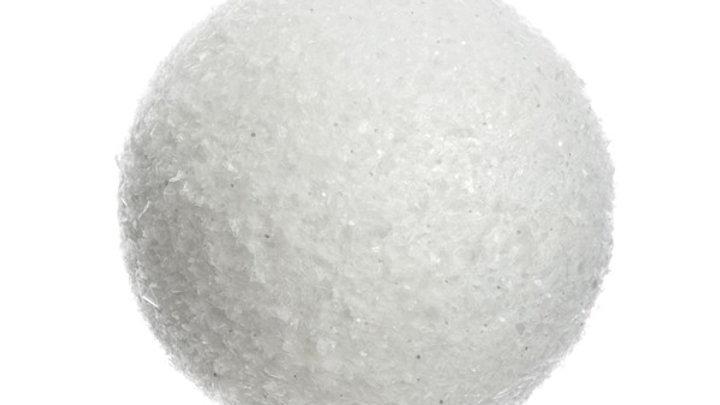 6/ Boule Neige Blanc Paillette Ø14cm