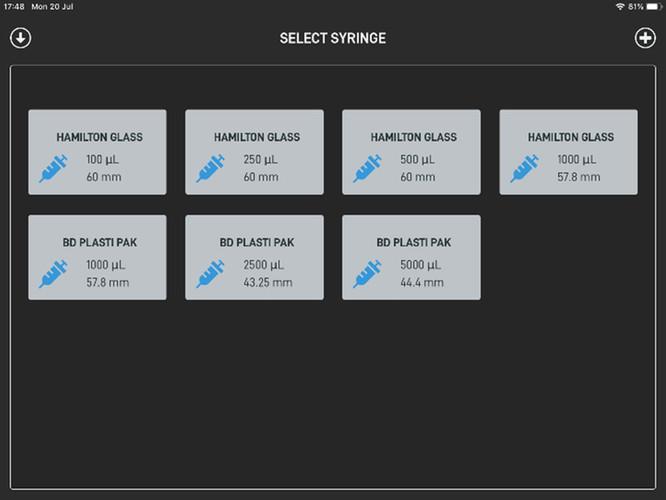 SmartFlo for iPad_ExiGo_Setting syringe2